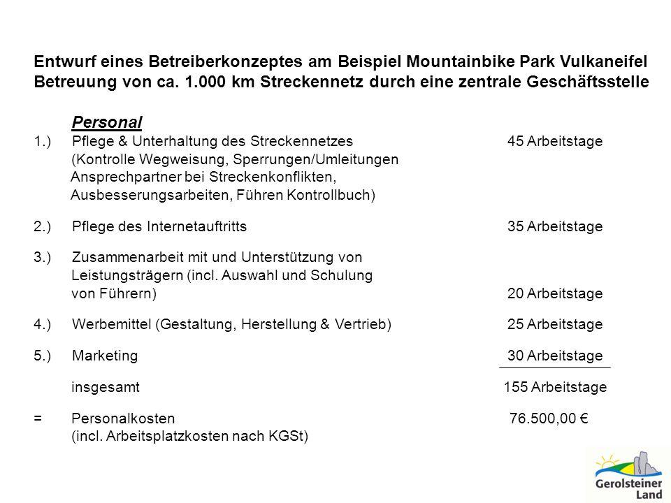 Entwurf eines Betreiberkonzeptes am Beispiel Mountainbike Park Vulkaneifel