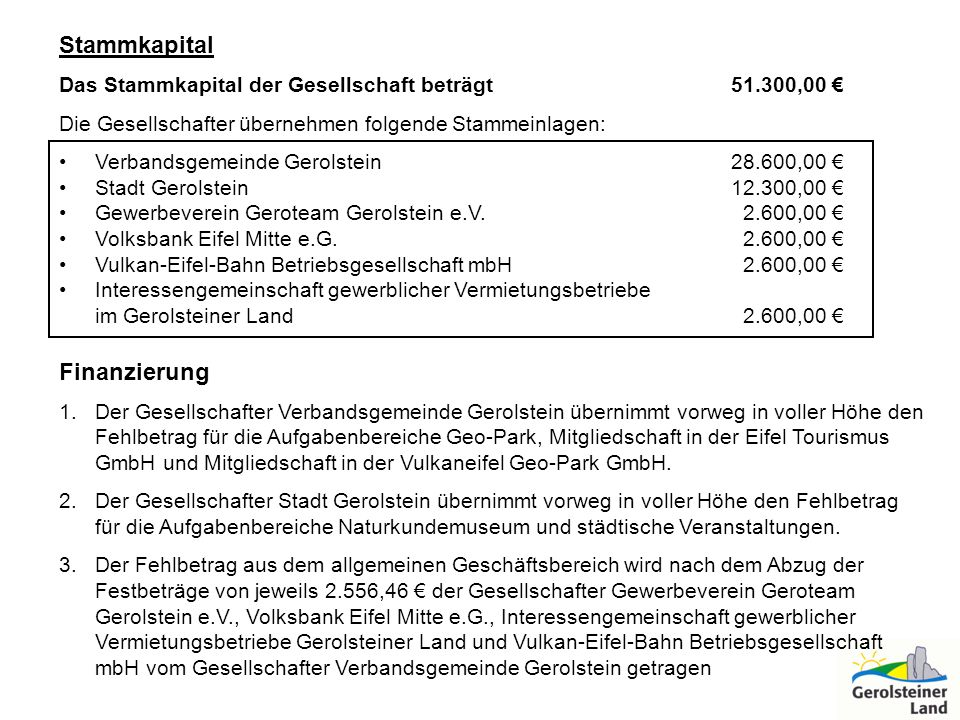 Stammkapital Finanzierung