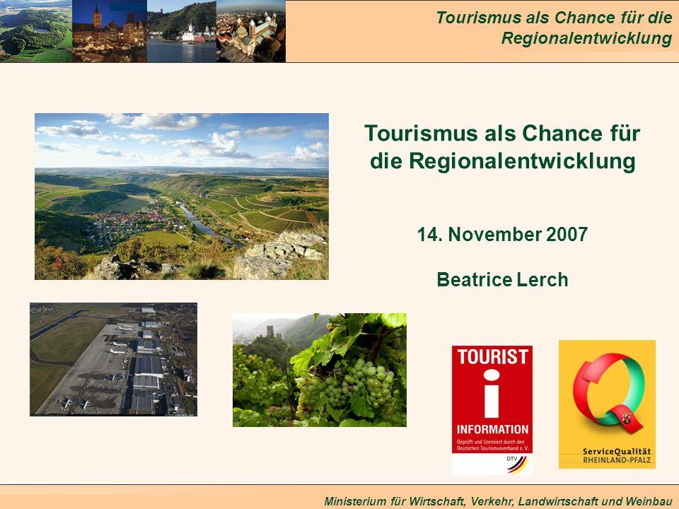 Tourismus als Chance für die Regionalentwicklung