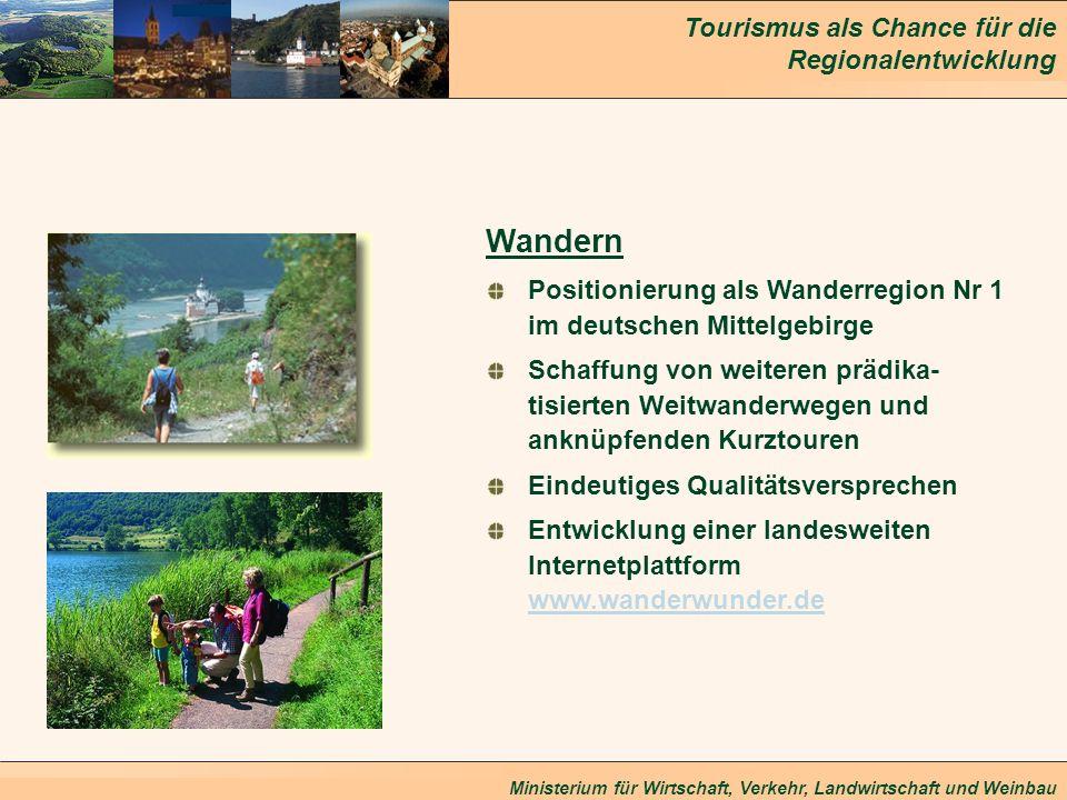 WandernPositionierung als Wanderregion Nr 1 im deutschen Mittelgebirge.