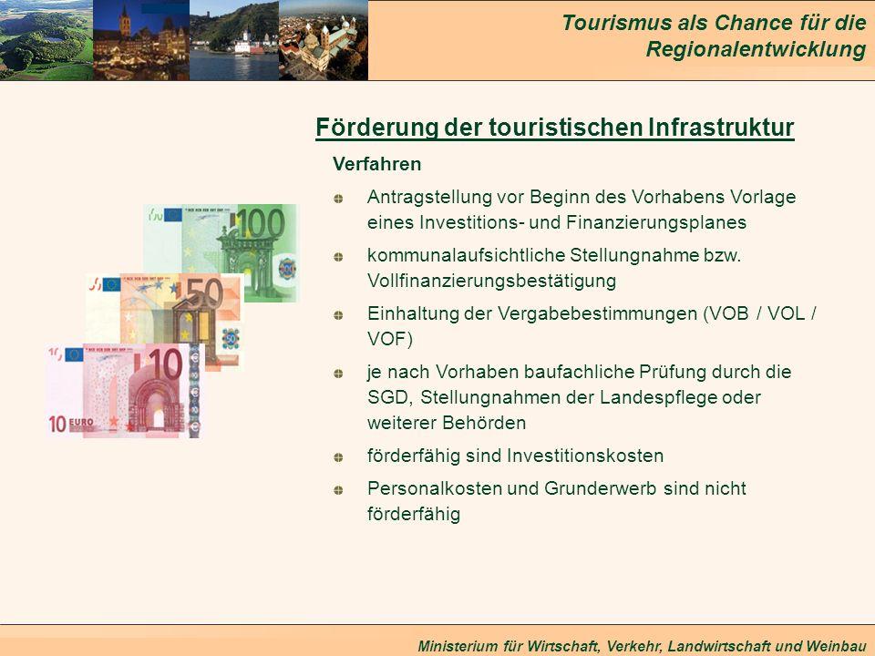 Förderung der touristischen Infrastruktur