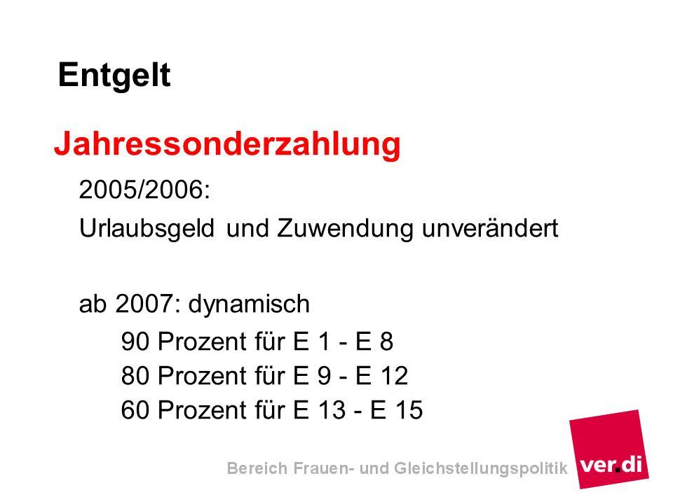 Entgelt Jahressonderzahlung 2005/2006: