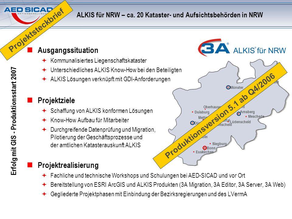 ALKIS für NRW – ca. 20 Kataster- und Aufsichtsbehörden in NRW