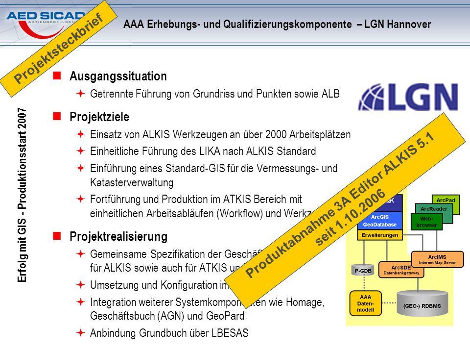 AAA Erhebungs- und Qualifizierungskomponente – LGN Hannover