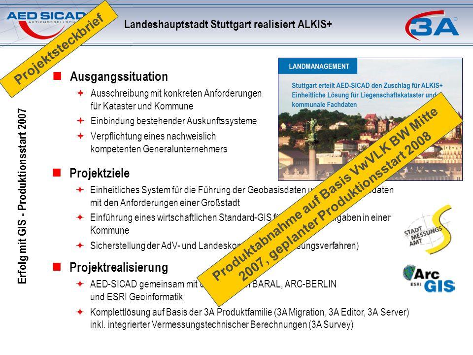 Landeshauptstadt Stuttgart realisiert ALKIS+