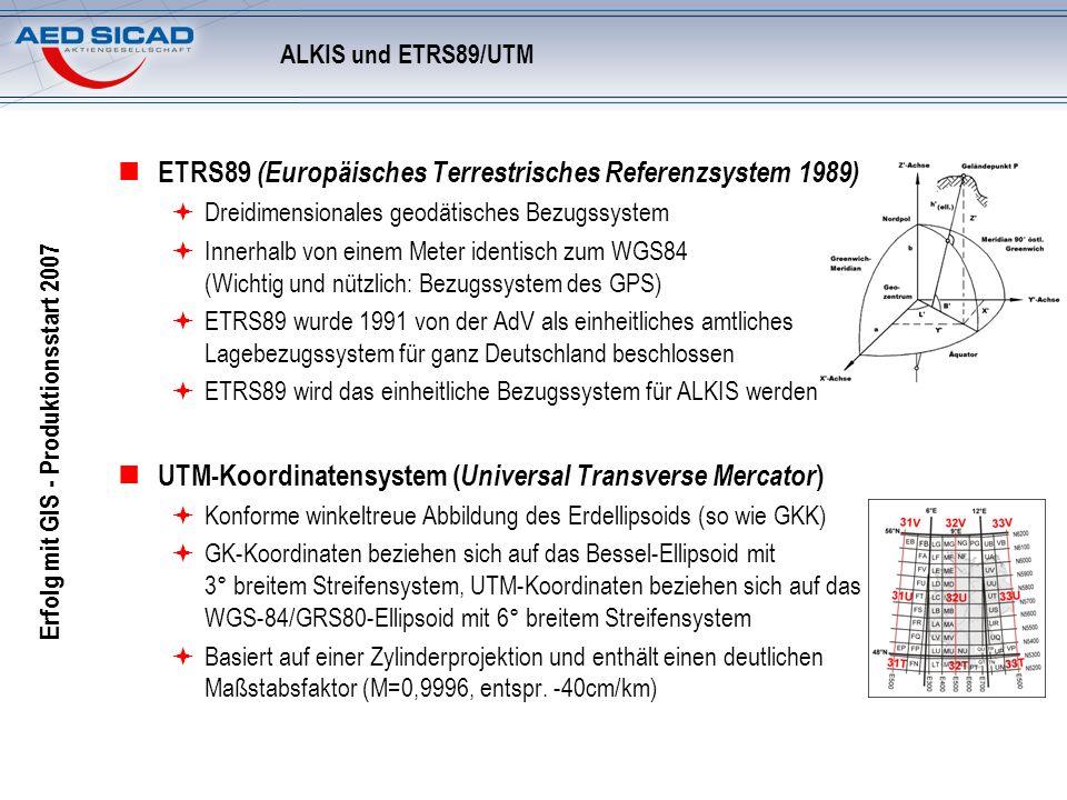 ETRS89 (Europäisches Terrestrisches Referenzsystem 1989)