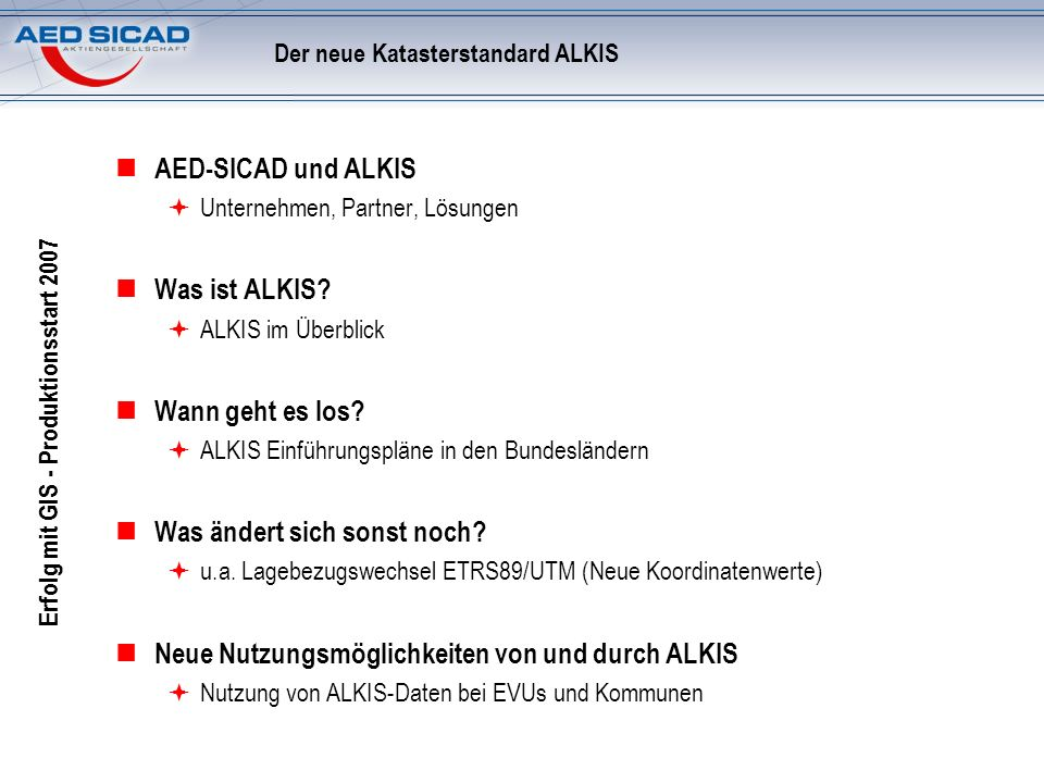 Der neue Katasterstandard ALKIS