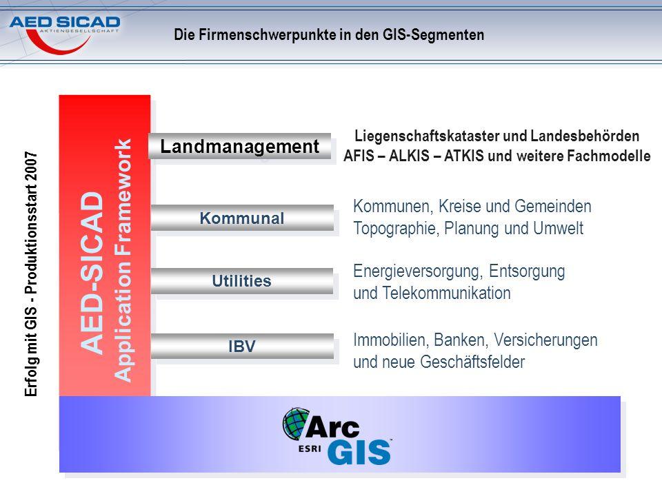 Die Firmenschwerpunkte in den GIS-Segmenten