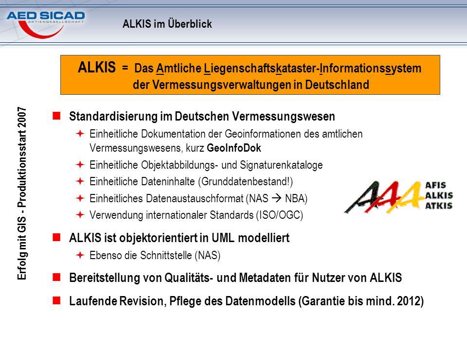 ALKIS im Überblick ALKIS = Das Amtliche Liegenschaftskataster-Informationssystem der Vermessungsverwaltungen in Deutschland.