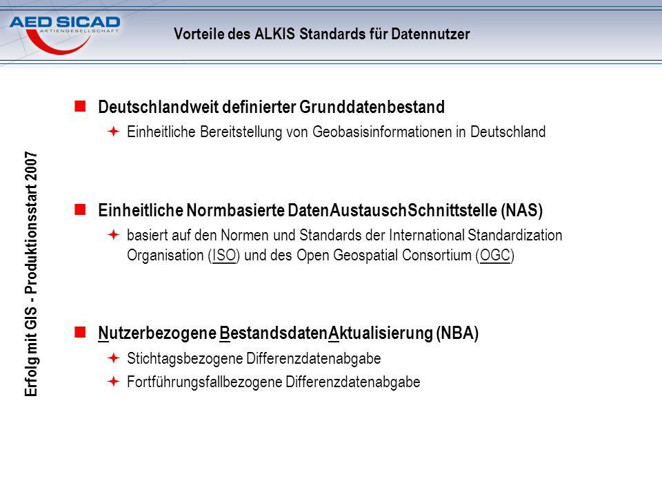 Vorteile des ALKIS Standards für Datennutzer