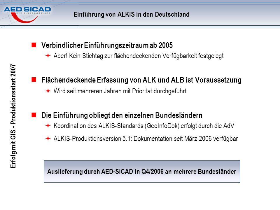 Einführung von ALKIS in den Deutschland