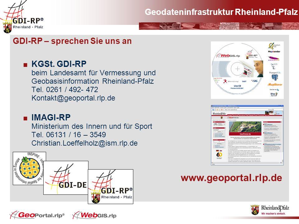 www.geoportal.rlp.de Geodateninfrastruktur Rheinland-Pfalz