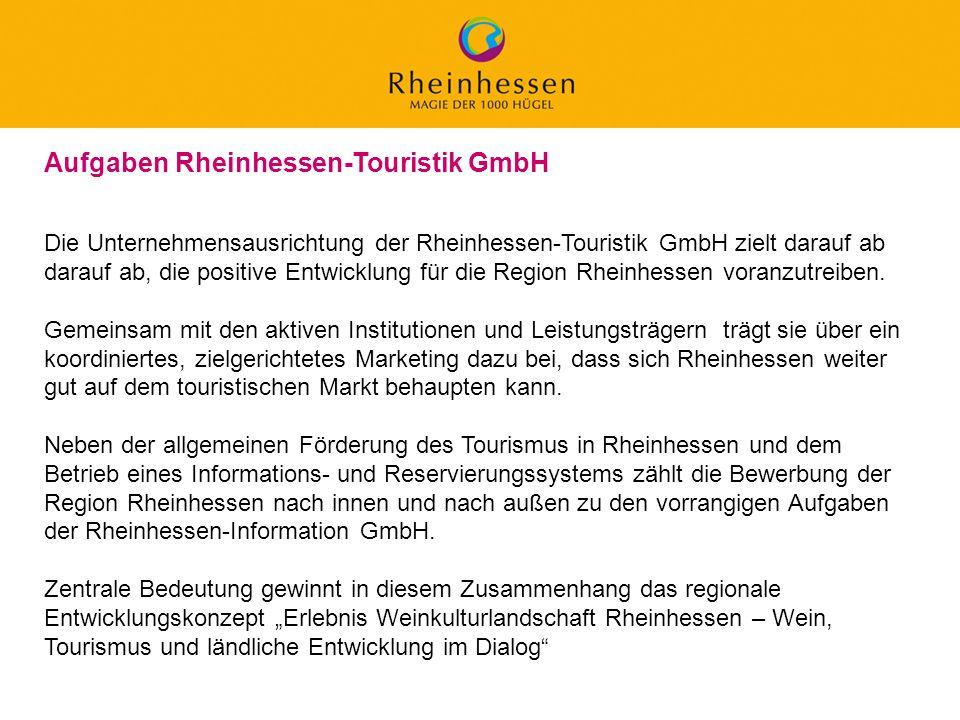 Aufgaben Rheinhessen-Touristik GmbH