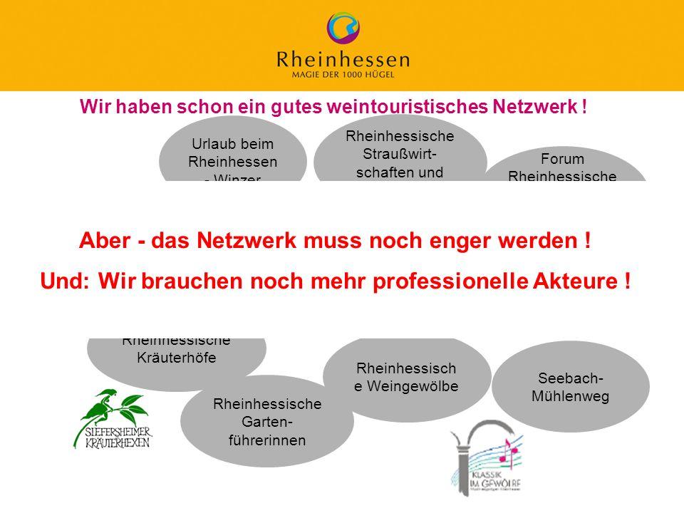 Aber - das Netzwerk muss noch enger werden !