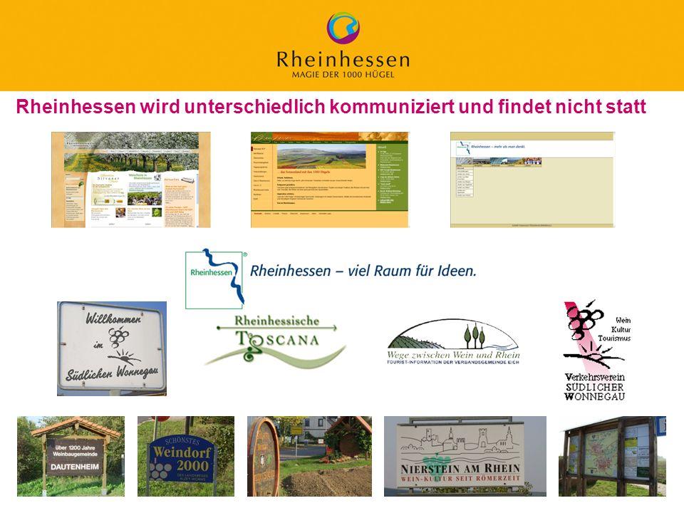 Rheinhessen wird unterschiedlich kommuniziert und findet nicht statt