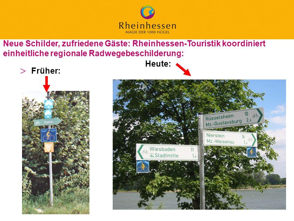 Neue Schilder, zufriedene Gäste: Rheinhessen-Touristik koordiniert einheitliche regionale Radwegebeschilderung: