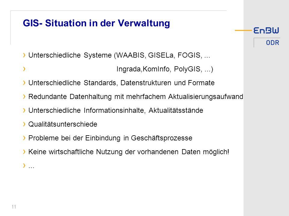 GIS- Situation in der Verwaltung