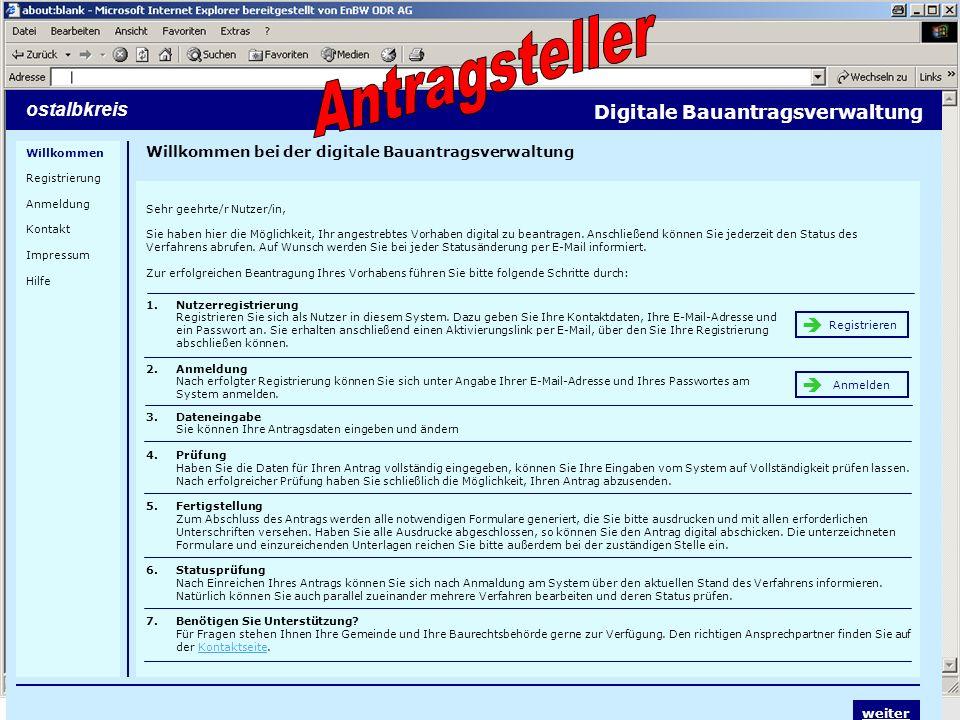 Antragsteller Screenshots ostalbkreis Digitale Bauantragsverwaltung 