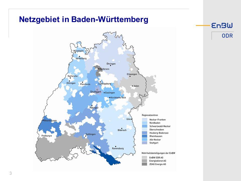 Netzgebiet in Baden-Württemberg