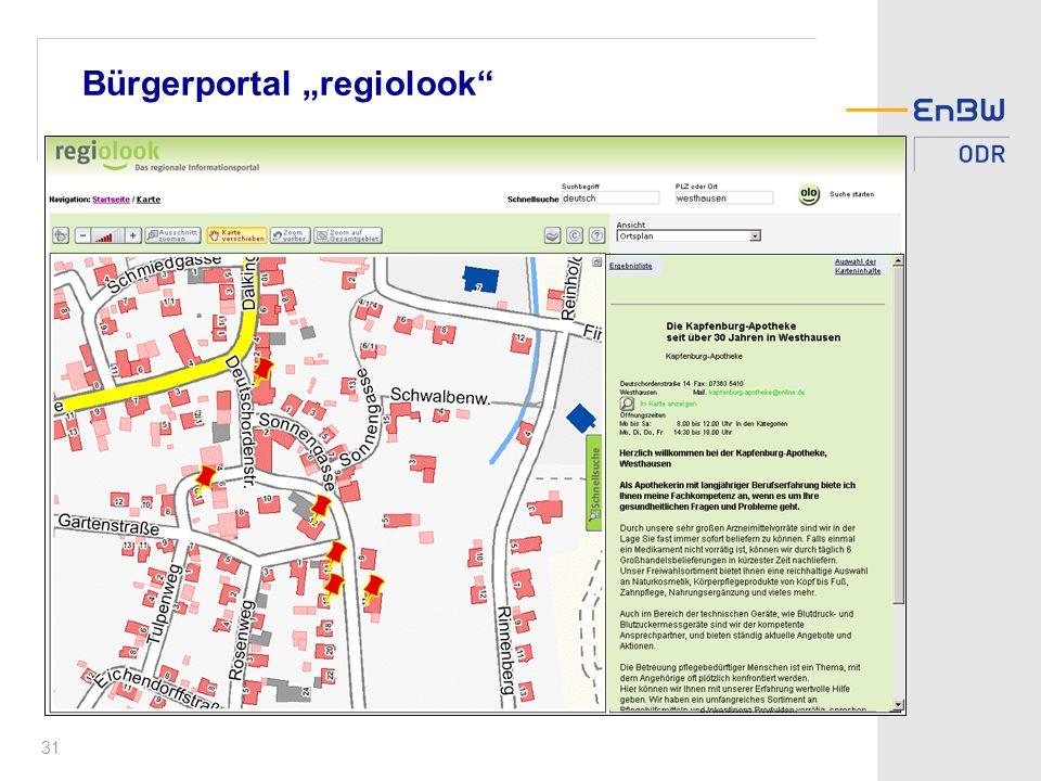 """Bürgerportal """"regiolook"""