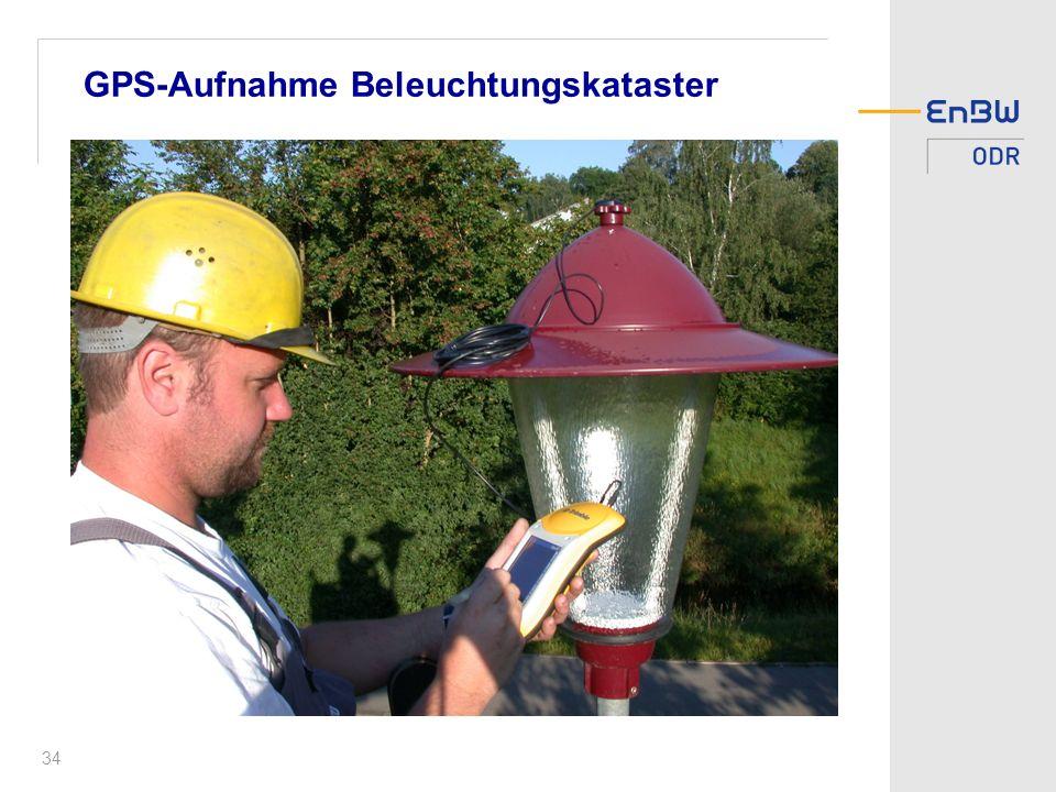 GPS-Aufnahme Beleuchtungskataster