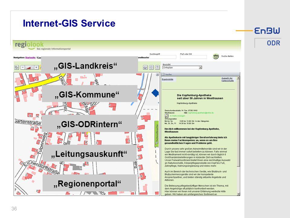 """""""ODRintern Internet-GIS Service """"GIS-Landkreis """"GIS-Kommune"""