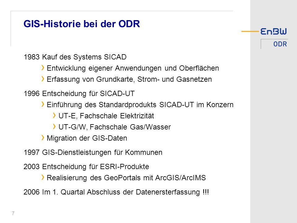 GIS-Historie bei der ODR