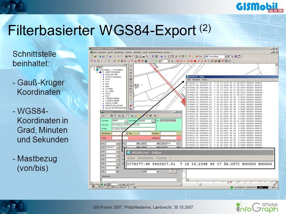 Filterbasierter WGS84-Export (2)