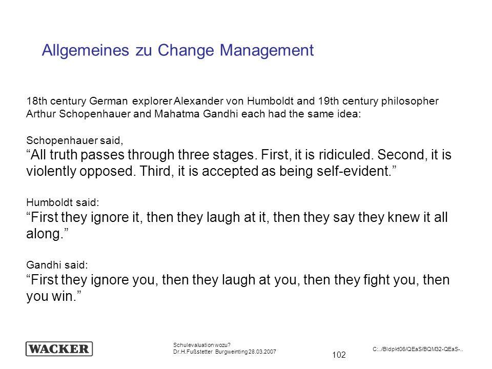 Allgemeines zu Change Management