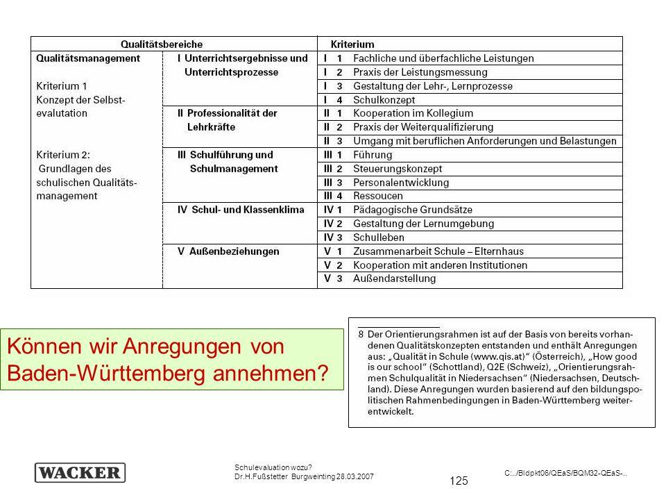 Können wir Anregungen von Baden-Württemberg annehmen