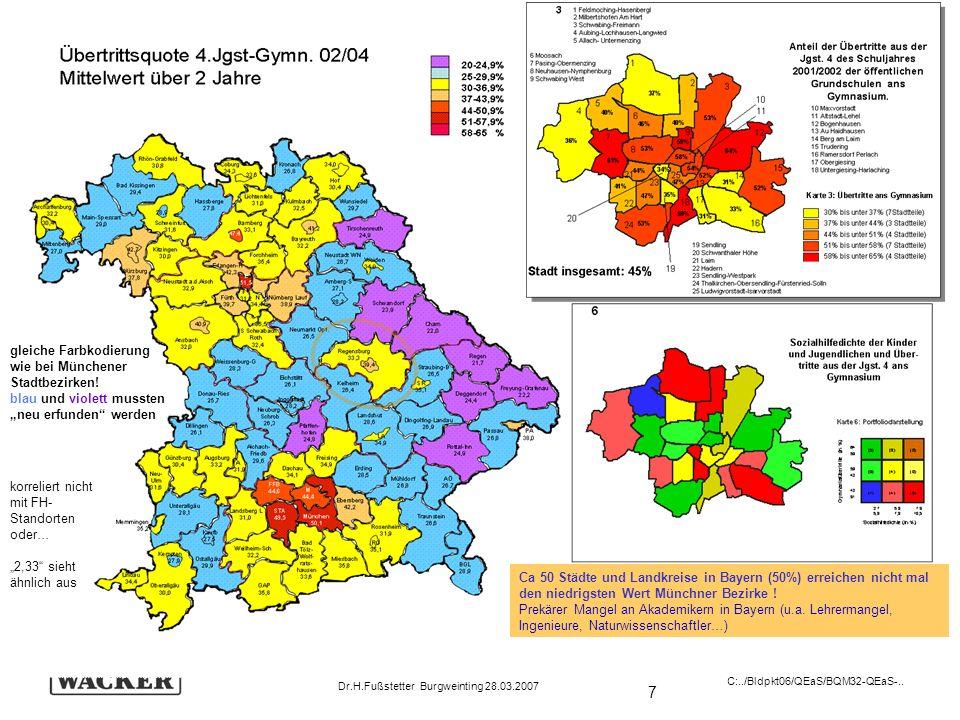 gleiche Farbkodierung wie bei Münchener Stadtbezirken!