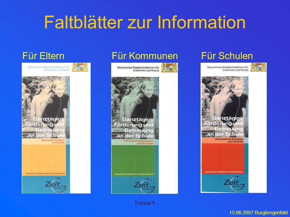 Faltblätter zur Information