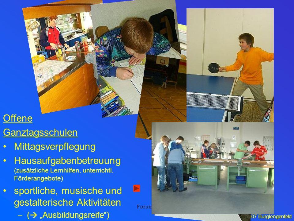 sportliche, musische und gestalterische Aktivitäten