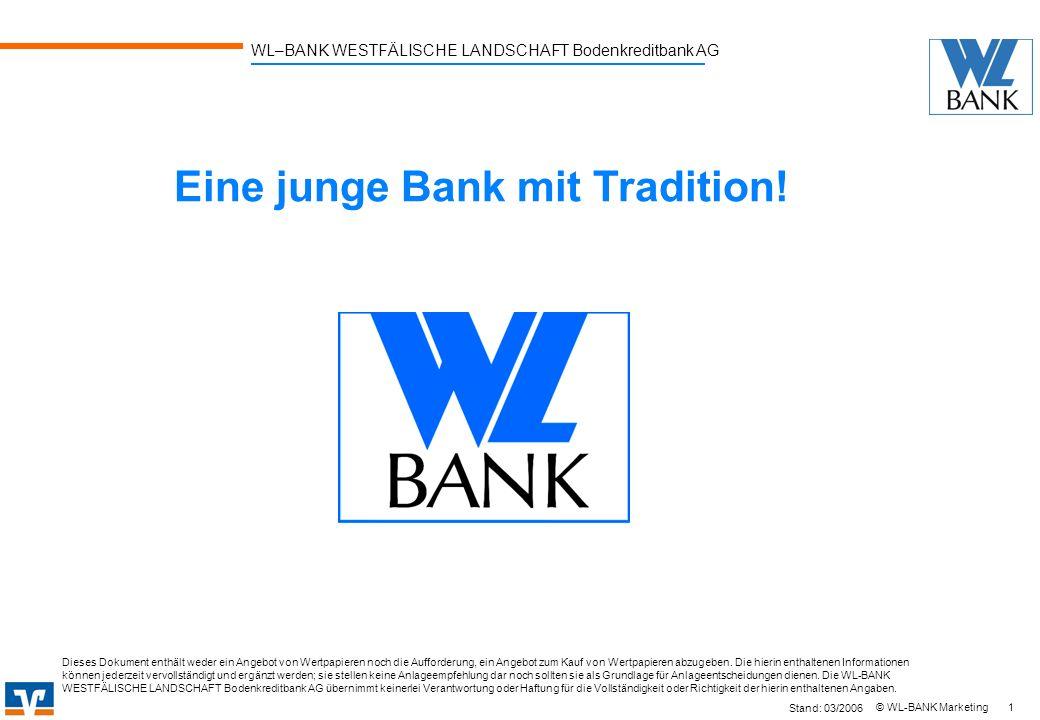 Eine junge Bank mit Tradition!