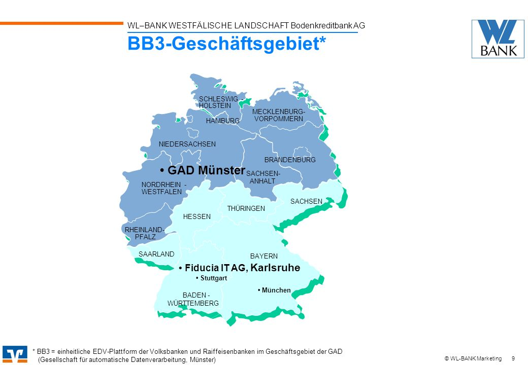 BB3-Geschäftsgebiet* • GAD Münster • Fiducia IT AG, Karlsruhe