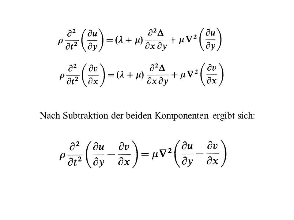Nach Subtraktion der beiden Komponenten ergibt sich: