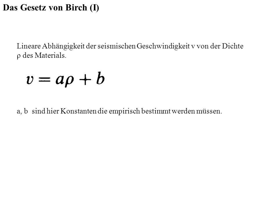 Das Gesetz von Birch (I)