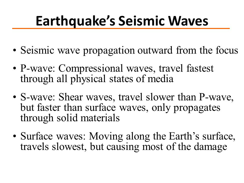 Earthquake's Seismic Waves