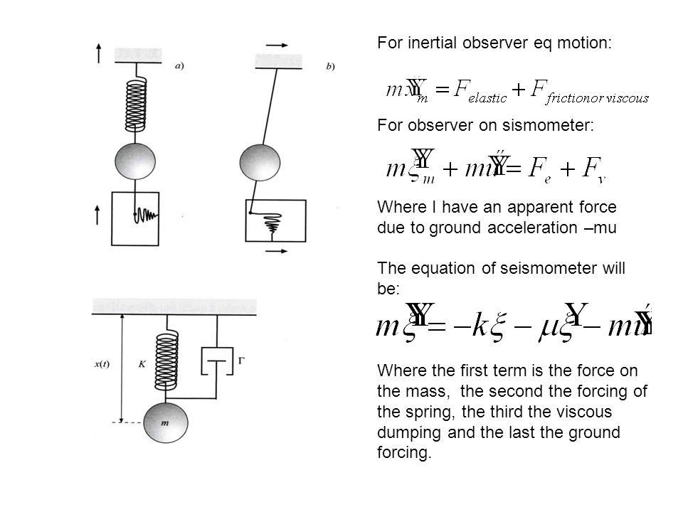 For inertial observer eq motion: