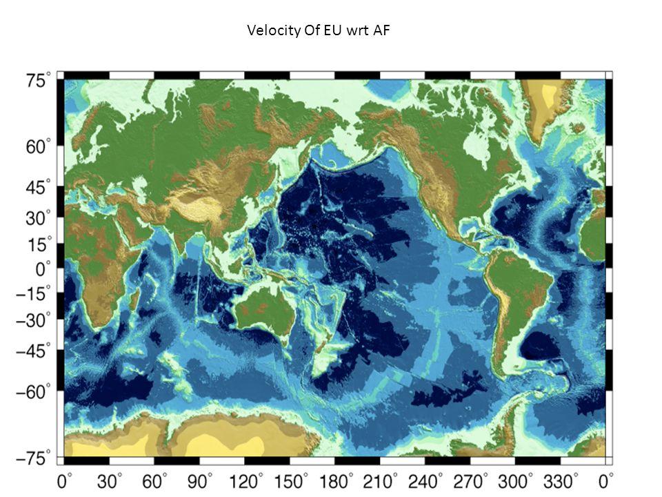 Velocity Of EU wrt AF