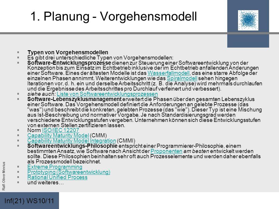 1. Planung - Vorgehensmodell