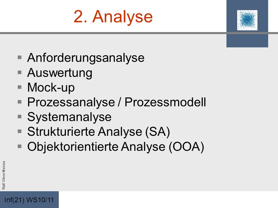 2. Analyse Anforderungsanalyse Auswertung Mock-up