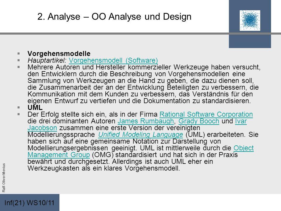 2. Analyse – OO Analyse und Design