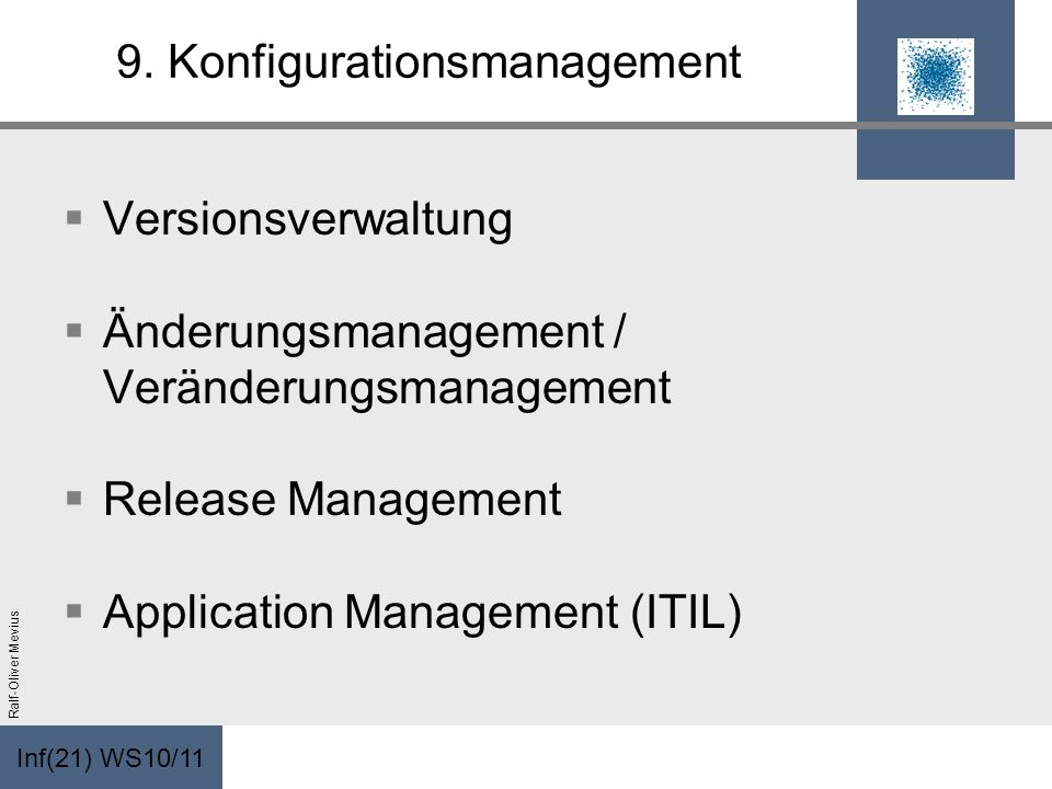 9. Konfigurationsmanagement