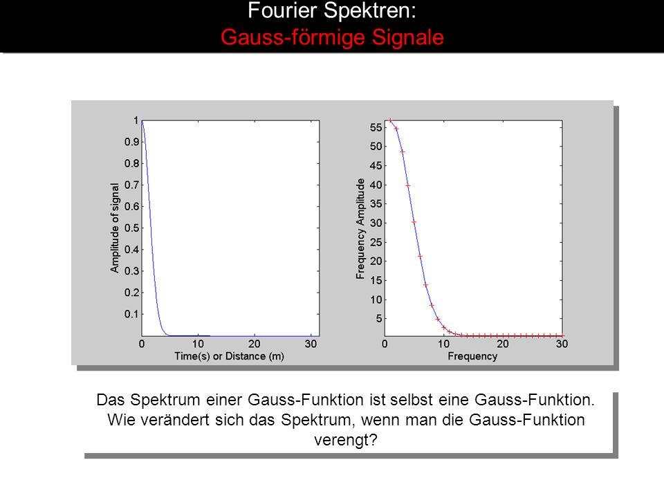 Fourier Spektren: Gauss-förmige Signale
