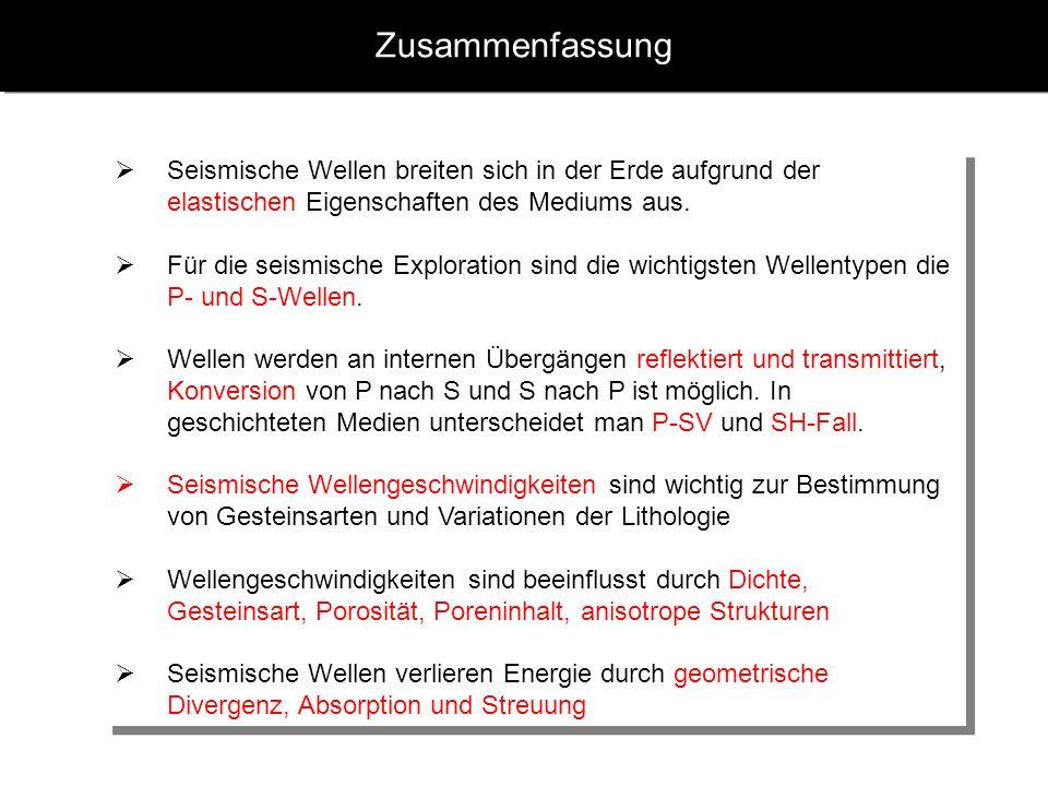 seismische wellen geschwindigkeiten