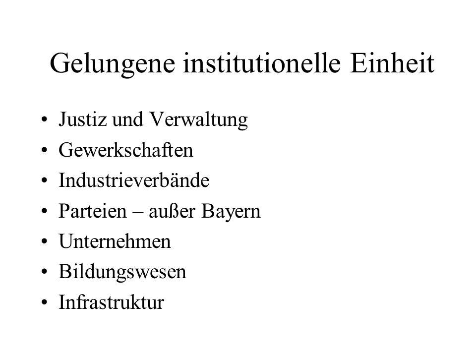 Gelungene institutionelle Einheit