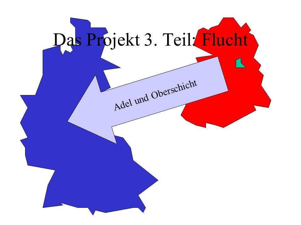 Das Projekt 3. Teil: Flucht