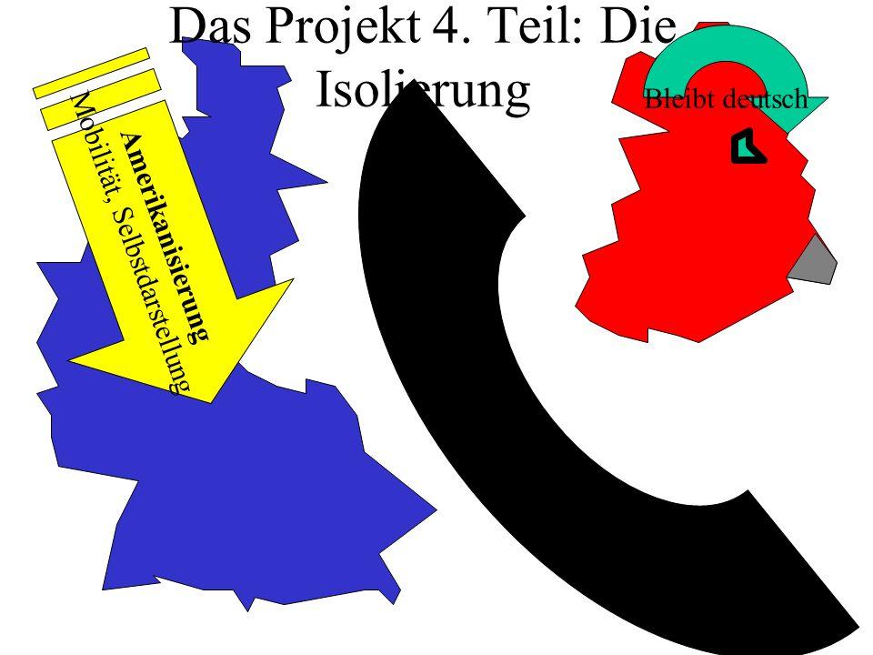 Das Projekt 4. Teil: Die Isolierung