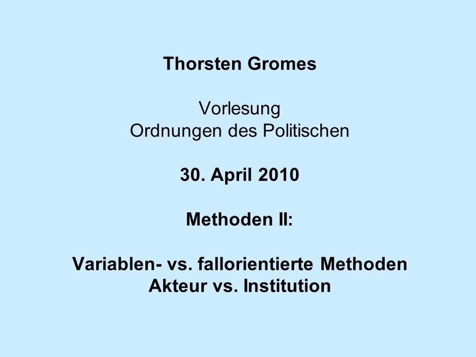 Thorsten Gromes Vorlesung Ordnungen des Politischen 30